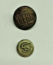 Vintage Clothing Metal Buttons Superior NWERR and Waterbury CSL 2x Total