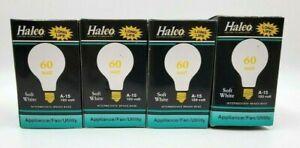 4 HALCO 60 watt 120 volt  A15 Medium Screw E26 Base Light Bulbs Appliance Fan