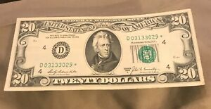 1969-A   STAR $20 Federal reserve note , Cleveland  district ,  XF