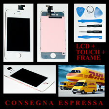 Touch Screen LCD Display Retina Frame per Apple Iphone 4S BIANCO Vetro Schermo A