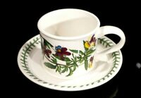 Beautiful Portmeirion Botanic Garden Heartsease Flat Drum Cup And Saucer