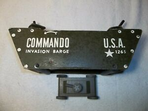 COMMANDO INVASION WOODEN BARGE W/TANK AND SURFACE GUNS CIRCA EARLY 1940's