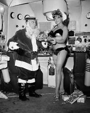 "BUSTER KEATON & BOBBI SHAW ""BEACH BLANKET BINGO"" - 8X10 CHRISTMAS PHOTO (OP-995)"