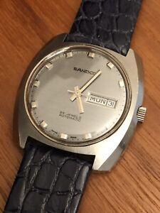 Sandoz Vintage Watch Uhr 70s 70er Edelstahl Steel FHF 908