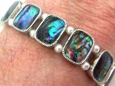 "PAUA Shell abalone Nature's 1 Stretch Bracelet 3/8""W Wheeler Mfg. STB 002 NEW"
