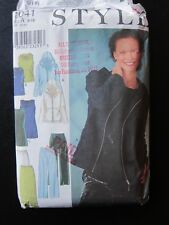 Style 1041 pattern Jacket, top tunic pants skirt Size 8-18 UNCUT great for knits