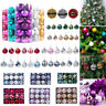 12/24pcs Christmas Decorations Baubles Tree Xmas Balls Party Wedding Ornament
