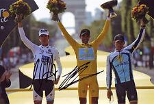 Alberto Contador & Andy Schleck Signed 8X12 inches 2009 TDF Photo