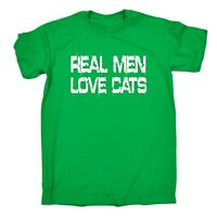 Real Men Love Cats T-SHIRT tee animal feline pussy cat funny birthday gift 123t