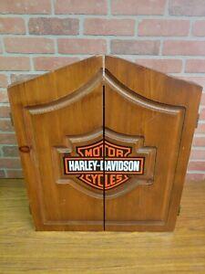 Harley-Davidson Dart Board, & Cabinet