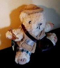 Rare Fishing Bear Russ Berrie Plush Original Vintage Item No. 1876 Collectible