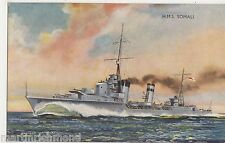 HMS Somali, Bernard W. Church Art Postcard, B573