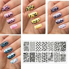 BPL 022 NEW Geek Theme Pattern DIY Manicure Nail Art Stamp Template Image Plate