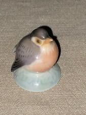 Vintage Royal Copenhagen Denmark Porcelain Baby Bird Robin Figurine #2238