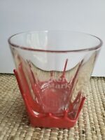 MAKERS MARK  Bourbon Whiskey ~ RED WAX Dipped Bar Rock Glass