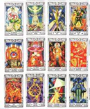 "Aleister Crowley Thoth Tarot Deck English 79 Cards MINI 4.5x7.5cm 1.8х3"" New"