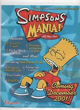 INKWORKS THE SIMPSONS MANIA BINDER,SELL SHEETS AND PROMO CARDS