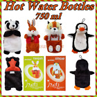 Hot Water Bottles HAITI Made of Natural Rubber with Removeable Plush Animal Form