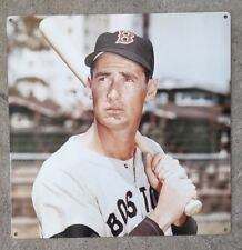 Ted Williams Boston Red Sox Baseball Fenway Park Vintage Photograph Poster Sign
