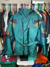 Vintage Spyder Winter Jacket Size Large fits XL Colorblock RARE Green Purple