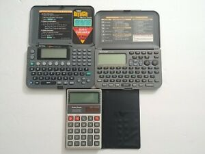 ⚡3 Calculators For Parts Or Repair Only- Sharp El-6390, Royal Dm, Radio Shack