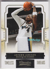 2009-10 PANINI CLASSICS 3CL PATCH #81: ANTAWN JAMISON #7/25 TIMELESS THREADS