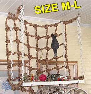 Parrot Birds Climbing Net Jungle Fever Rope Small Animals Toys