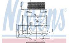 NISSENS Radiador de aceite, aceite motor FORD VOLVO S40 V60 PEUGEOT BIPPER 90670