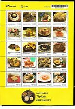 BRAZIL BRASIL 2019 UPAEP AMERICA TRADITIONAL FOODS,MEALS MINISHEET MNH,