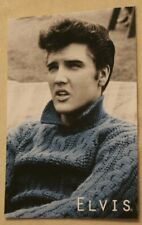 Young Elvis Presley in Blue Sweater Postcard