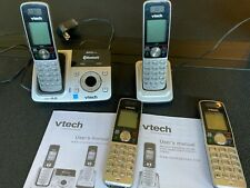 Vtech Dect6.0 DS6321 base with 4 cordless phones - connects to cellular phone