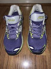 Asics Gel Cumulus 14 Running Shoes Womens Size 8.5 M Purple Neon Green White
