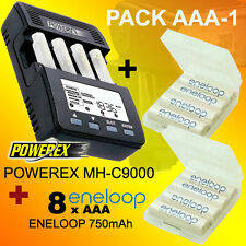 Pack OFERTA AAA-1 - Cargador POWEREX MH-C9000 + 8 Baterías Eneloop AAA 750mAh