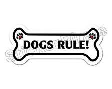 Dogs Rule! Dog Bone Bumper Sticker Decal DB 123