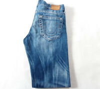 Men's True Religion Jeans 32 x 34 (tag 30) Relaxed Slim Leg in Blue RRP £200