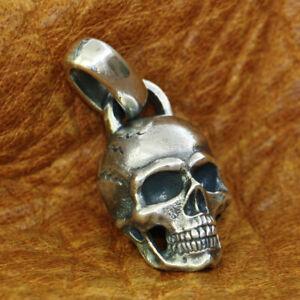 Details 925 Sterling Silver Skull Pendant Mens Biker Rock Punk Pendant TA181B JP