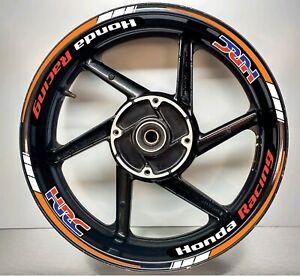 Honda Racing HRC Repsol Orange and White REFLECTIVE, Wheel Rim Sticker 025/039