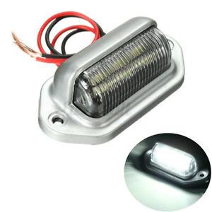 6 LED License Plate Tag Light Boat RV Truck Interior RV Lamp Step Bulbs 12
