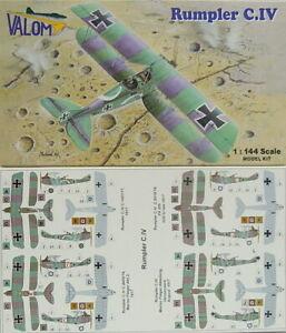 Rumpler C.IV , Valom , 1:144, Modèle en Plastique,2 Modèles, Neuf