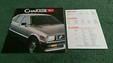1981 / 1982 DAIHATSU CHARADE UK FOLDER BROCHURE + CHARADE & 55 WIDE PRICE LIST