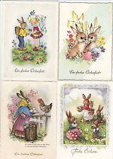 Fröhliche Ostern Lot 4 AK Vermenschlichte Hasen Eier Pasqua Easter 1703194