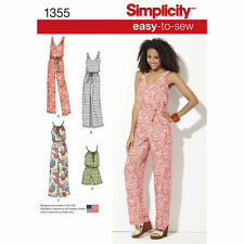 Simplicity Easy SEWING PATTERN 1355 Maxi Dress & Long/Short Jumpsuit XXS-XXL