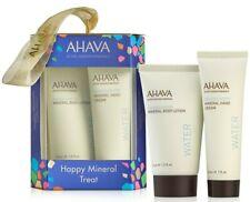 AHAVA 2 Teile Set Happy Mineralien Körper & Hand Geschenk Groß Reisegröße Boxed
