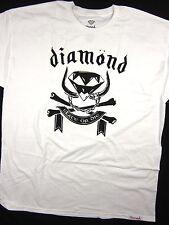 Diamond Supply Co Crossbones Head Tee white shirt men's skate Urban size XL