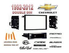 1992-2012 CHEVROLET IMPALA MALIBU S10 BLAZER 2 DIN CAR STEREO INSTALL DASH KIT