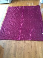 Vtg Antique Economy Products Corp 66x76 Royal Purple Gold Wool Lined Bed Spread