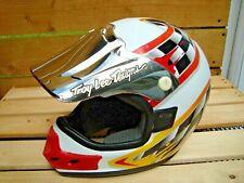 Vintage Motocross Motorcycle Helmet Troy Lee Designs Model Size M