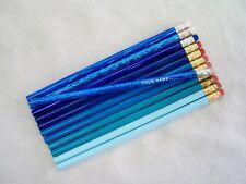 "12 ""Shades of Blue"" Personalized Pencils w/Glitzy"