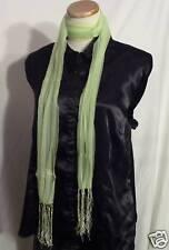 Sheer Lime Green Fringe Belt Waist Neck Scarf Sash!