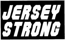 JERSEY STRONG vinyl decal #3